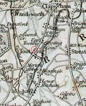 Tooting map of 1815